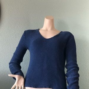 Very pretty blue high-low sweater